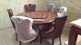 round wooding dining table executive 6setter