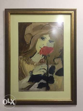 watercolor painting signed Juliana seraphim
