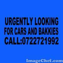 Wanted cars and bakkies