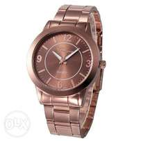 Rose gold women's luxury wristwatch