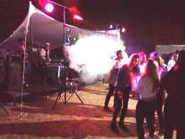 Sound, Lights, Smoke and Snow machines for hire on New Years Eve
