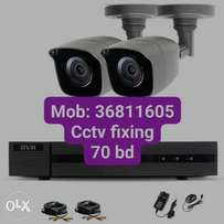 Dhua camera 2 mega pixel 70 bhd only with fixing