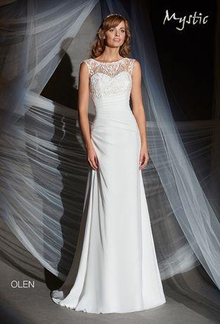 0c1ed8a3 piękna suknia ślubna Mystic Olen dekolt V, wyszczupla Kraków - image 1