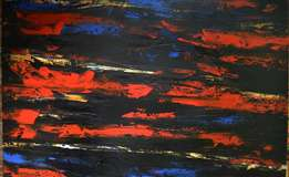 Blac&Red abstract oil painting - Bousie