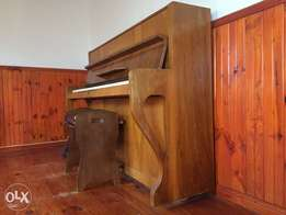 Zimmerman piano with piano chair
