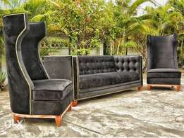 Wing chesterfield buttoned Settee sofa