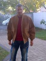 Tan suede jacket for sale