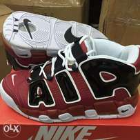 Red Nike Air Moore Untempo