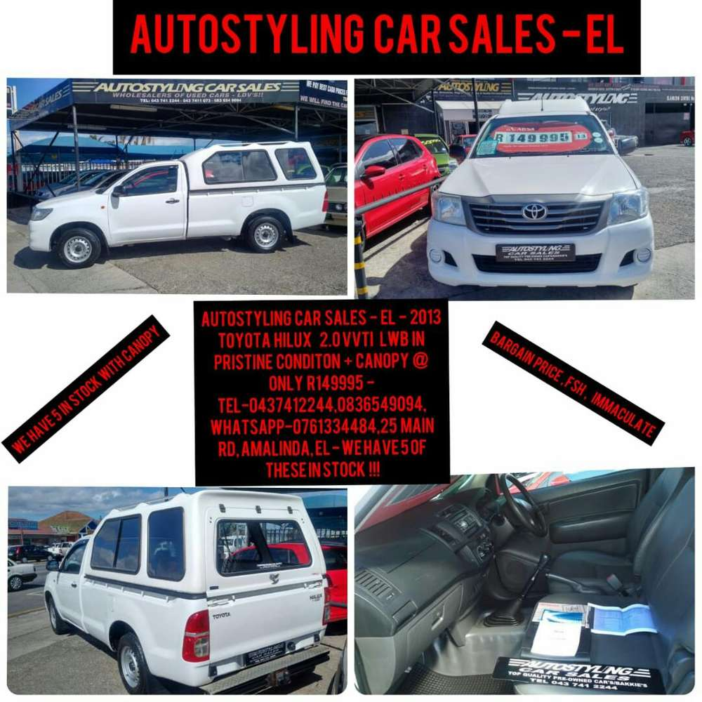 Autostyling Car Sales El Bargain Pristine 2013 Toyota Hilux Lwb Used Cars For Sale With Prices Sc Bakkies 1057321954 Olx