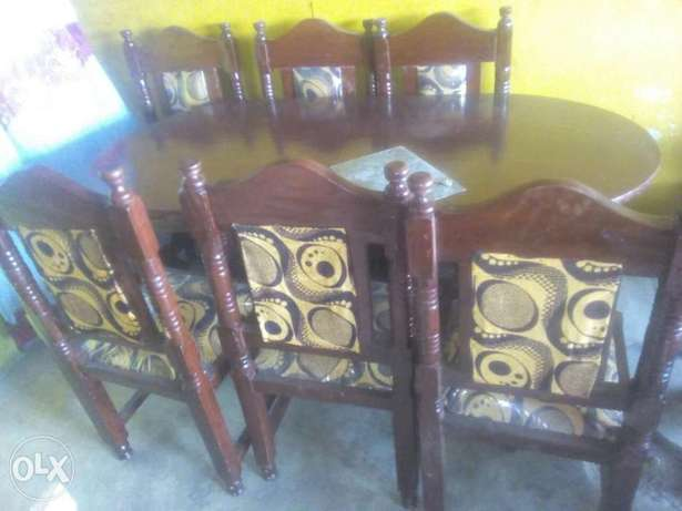 Dining table 6 seater wooden Bamburi - image 4