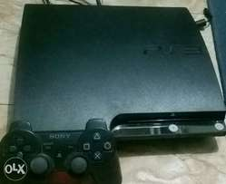 PS3 slim with 6 games on HDD