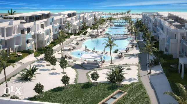 Chalet 190m -1st row on the Crystal Lagoon– in installments- Fouka Bay