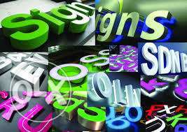 3D letters, Sign boards and all types of printing services