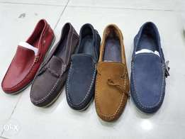 Suede Moccasin slip-on loafers