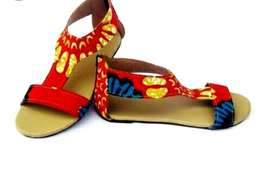 Uniquely made Ankara sandals