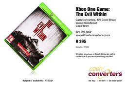 Xbox One Game: The Evil Within