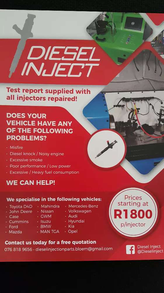 Injector - Car Parts & Accessories for sale in Bloemfontein | OLX