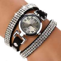 Ladies rhinestone bracelet wristwatch