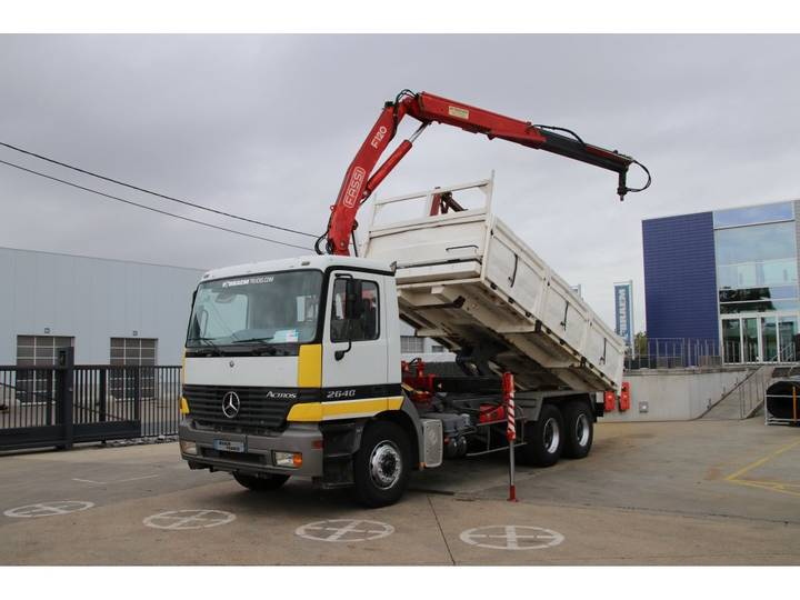 Mercedes-Benz ACTROS 2640 BB + crane/kraan 12 ton/m (2x Hydr.) - 1998