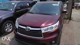 Direct 2016 Toyota Highlander first body full option custom duty clear
