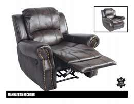 Recliner Manhattan Only R3 999 ** Choc Brown- Brand new in Boxes