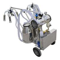 Portable double and single cluster milking machine