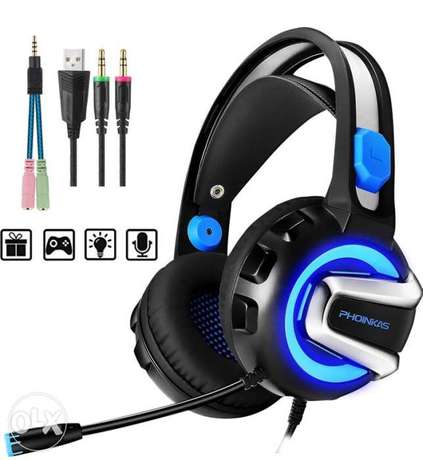 (1$=1500) PHOINIKAS H4 Stereo Gaming Headset for PC, PS4, Laptop, Xbox