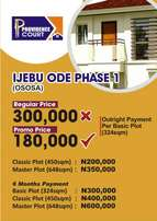 Plots of land at Ijebu Ode phase 1 (Ososa)