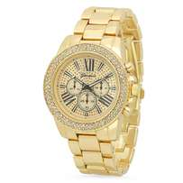 Gold plated chronograph Geneva watch