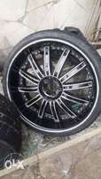 "Alloy rims 22"" 5 holes available for 80k"