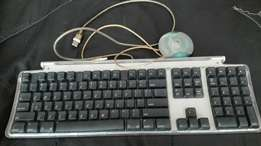 Mac keyboard with teo usd port and mouse
