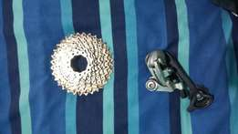 Mountain bike sprocket and derailer