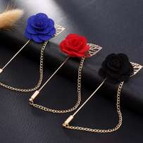 3 Combo Rose Labe pin with chain