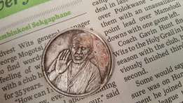 Indian Temple coin of Sai Baba as per pics,minted in pure silver