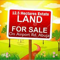 A partially developed/approved 12.5Hectares estate land on Airport Rd.