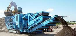 Jaw Crusher, Mobile Screen, Cone Crusher to rent available