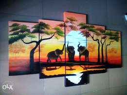 five in one sunset painting