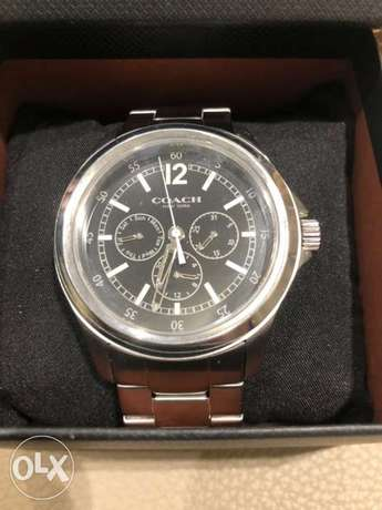 Original Coach men's watch brand new black