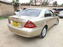 Mercedes Benz Kompressor C200 Nice Gold Colour Auto Petrol 2litre