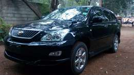 Toyota Harrier 2012 black fully loaded