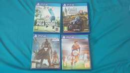 4 x ps4 games for sale