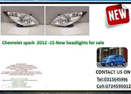 Chevrolet spark 2012 onwards New headlights for sale Price:R1600