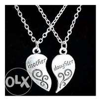 Mother and daughter bond love necklace