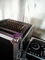 Hire of public address system with a back-up generator and a DJ 15k