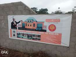 Serviced plots of land at Agbara