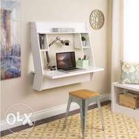 Handys Winslow White Modern Floating Desk