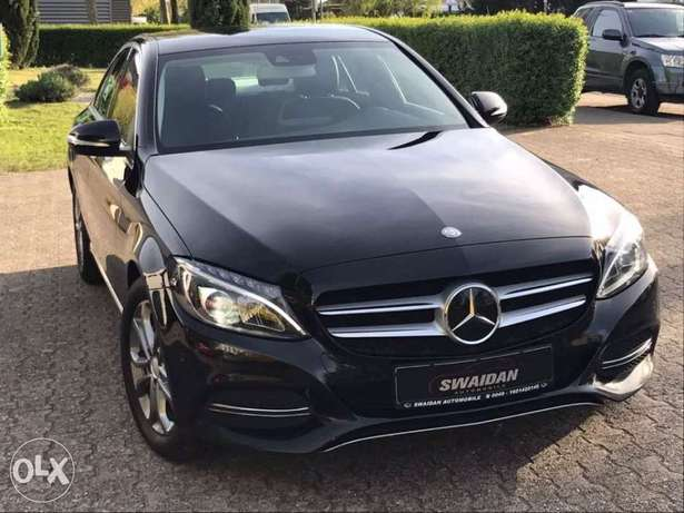 Mercedes C200, 2015 black on black, German !!!