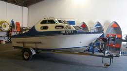 17ft ace craft cabin boat