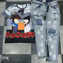 Fresh tees and jeans on arrival