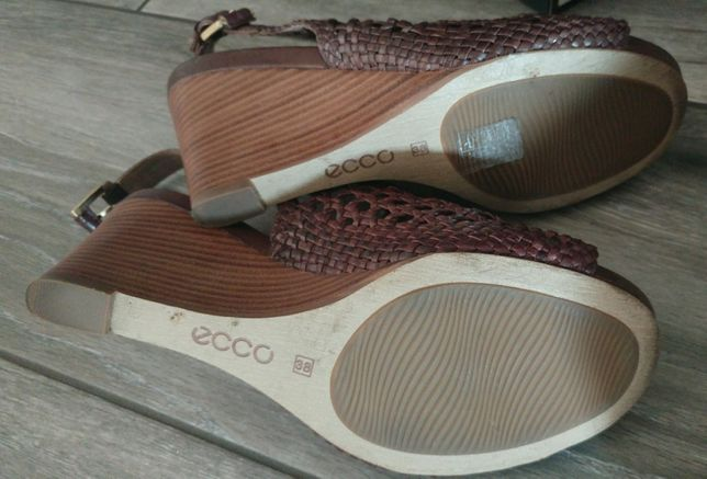Ecco sandały plecione skóra 38 Oleśnica Oleśnica • OLX.pl